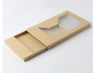 开窗牛皮纸抽屉盒