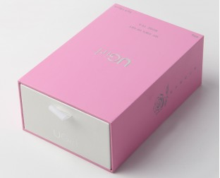 粉色高档化妆品抽屉礼盒定做