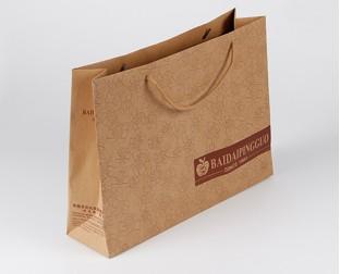牛皮纸手挽袋