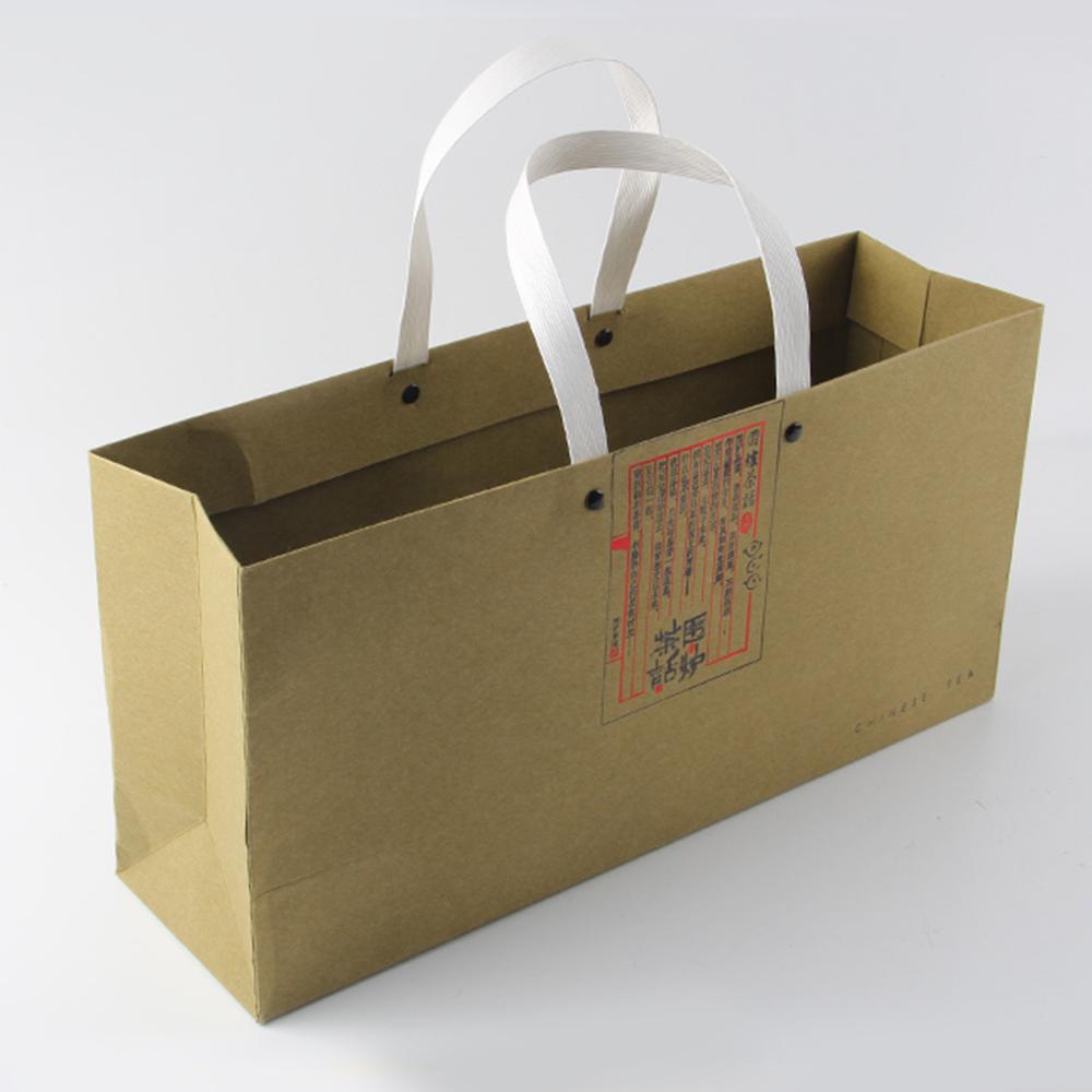 手拎纸袋印刷钉撞钉方式固定提手
