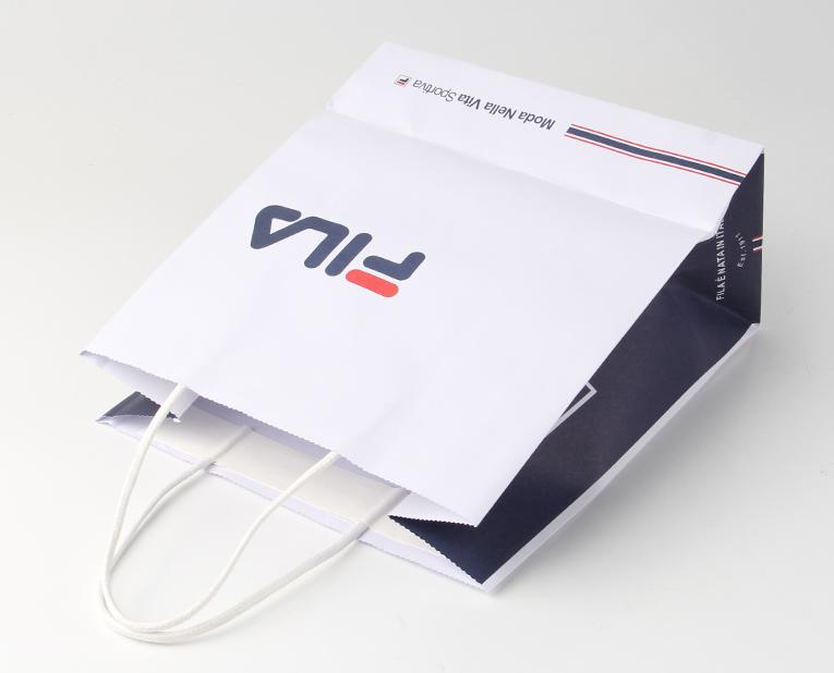 手拎纸袋印刷胶水粘贴方式固定提手